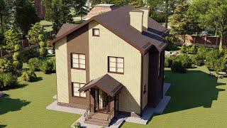 Проект дома 159-C, Площадь дома: 159 м2, Размер дома:  10,7x9,4 м