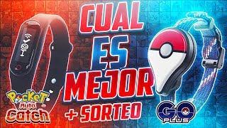 COMPARATIVA: ¿Cuál captura más? | Pocket Auto Catch VS. Pokémon GO Plus + SORTEO!!