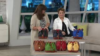 Dooney & Bourke Pebble Leather Small Drawstring Bag On QVC