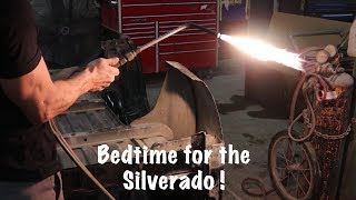 Bedside install and stripping the frame of our 2015 Silverado LTZ Part 9