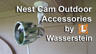 Nest Cam Outdoor Accessories by Wasserstein - Quad Pod, Cube Mount, Covers, Suction Cup Mount