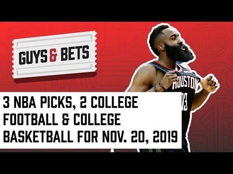 Guys & Bets: 3 NBA Picks, 2 College Football & College Basketball
