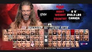 WWE 2K21 CONCEPT FULL ROSTER +290 Superstars (RAW, Smackdown, NXT, NXTUK & Legends) #WWE2K21