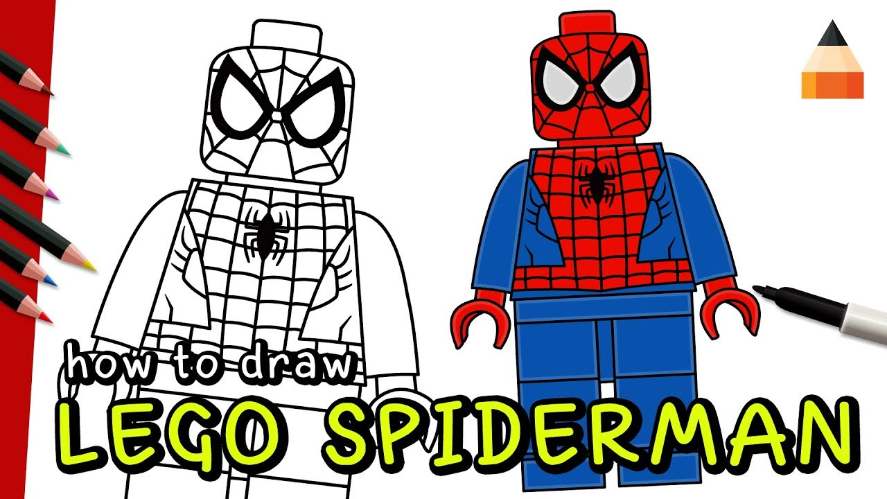 Marvel Comics Watch How To Draw LEGO Spiderman