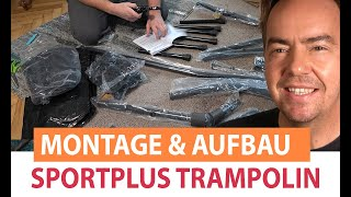 Sportplus Fitness Trampolin im Test:  Aufbau und Montageanleitung