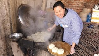 农村过年必备美食,农村妈妈大铁锅一掀,自己都看馋了! 【泥土的清香】