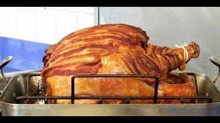 Bacon Wrapped Turkey Recipe | Potluck Video