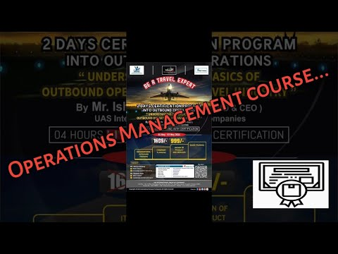 Certification Course of Operations management - YouTube