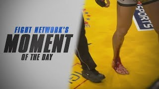 Ninja Rua Wins Due to Cut on Leg at Cage Rage 21 | #TBT Moment of the Day