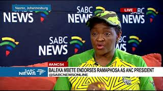 Minister Bathabile Dlamini on 54th ANC elective conference