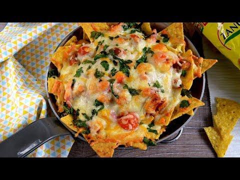 ¿TE GUSTA EL QUESO? Como hacer un asombroso plato en 30 minutos-Nachos de pollo BBQ y queso!