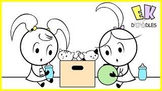 "Emma & Kate ""Surprise Cats Presents"" - EK Doodles Funny Cartoon Animation"