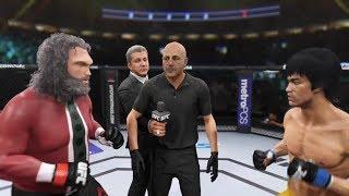 Bad Santa vs. Bruce Lee (EA Sports UFC 2) - CPU vs. CPU