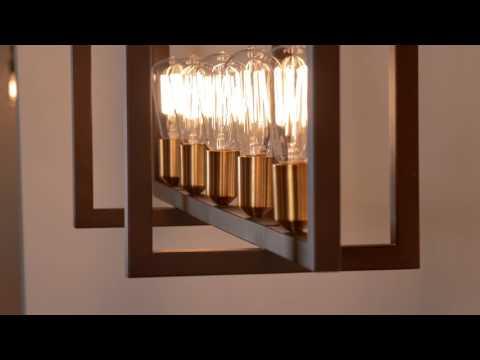 Video for Finnegan New World Bronze 12-Inch Seven-Light Island Pendant