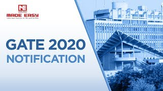 GATE Examination 2020 | Notification Poster | Important Dates