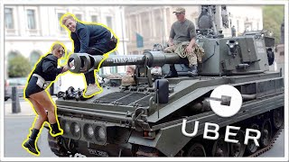 I WAS A LONDON UBER DRIVER FOR THE DAY *IN A TANK!*
