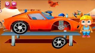 Видео для детей - Доктор Механика и машинки. Автомастерская мультик.