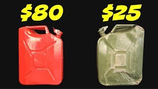 Testing Cheap vs. Expensive Gas Cans on Amazon