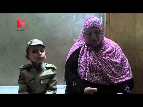"""بالفيديو  الطفل المصاحب للسيسي بالقناة: """"الحربية"""" فصّلت بدلتي العسكرية"""