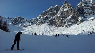 preview picture of video 'Stubaital - Schlick2000 mit Nancy Snowboarden'