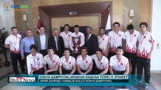 Antalya Büyükşehir Belediye Başkanı  Sn.Menderes TÜREL ŞAMİYONLARIMIZI AĞIRLADI