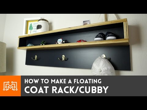Build A Flexible, Floating Coat Rack With Included Shelf