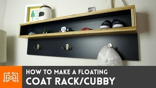 Build a Floating Coat Rack