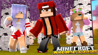 MY EX BOYFRIEND AND BRITNEY GO ON A DATE! Minecraft Little Kelly (Custom Roleplay)