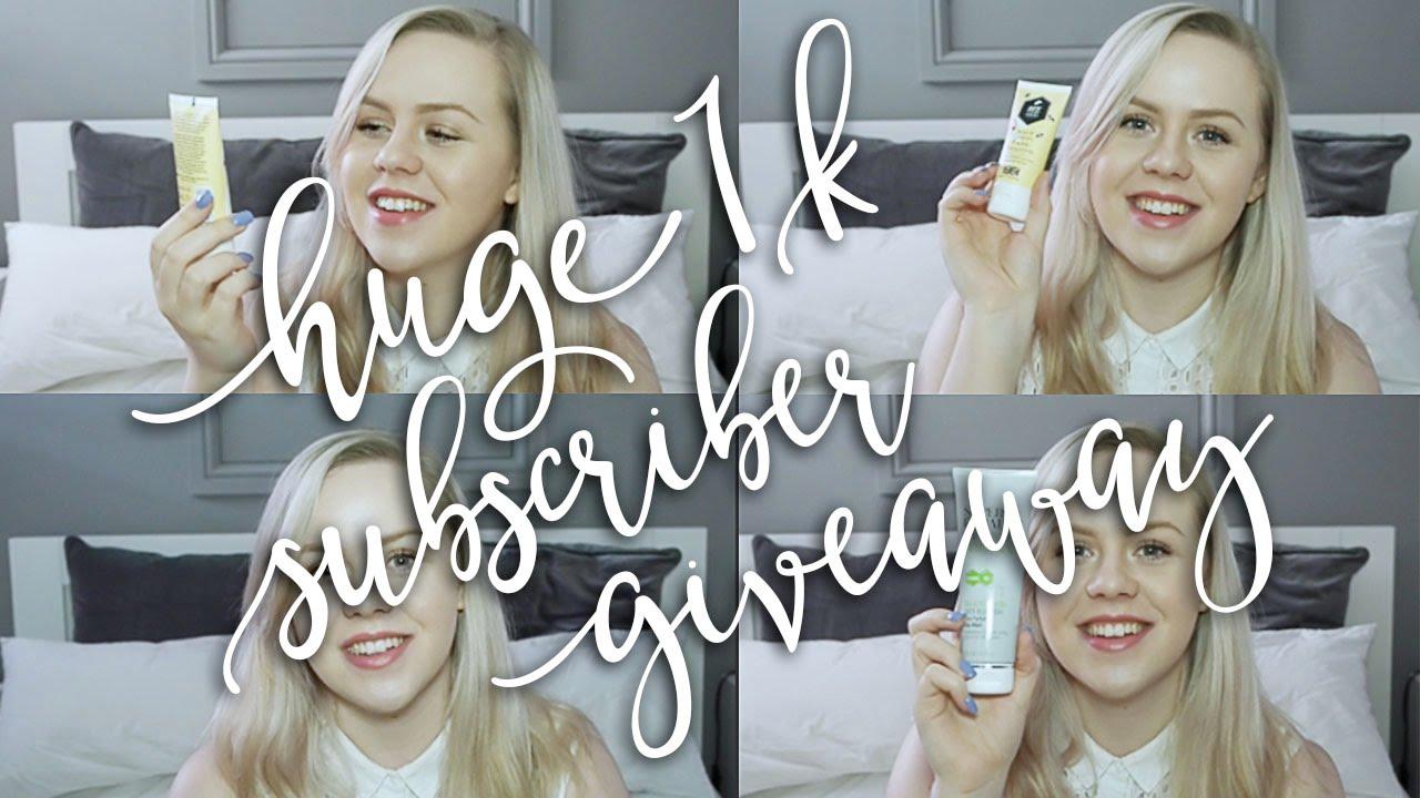 1k subscribers beauty bundle giveaway | Robowecop