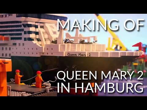 Making of Lego Queen Mary 2 in Hamburg