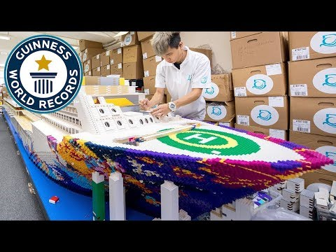 Time Lapse of the Worlds Largest LEGO Cruise Ship Being Built