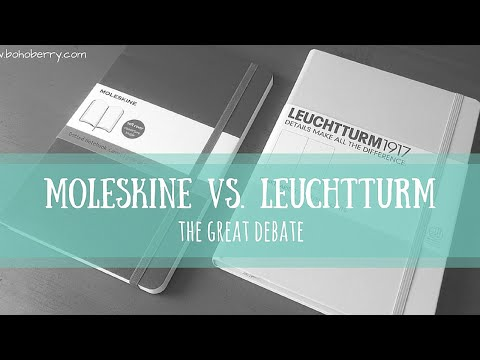 Moleskine vs  Leuchtturm1917   The Great Debate
