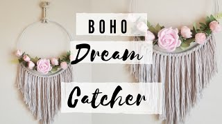 DIY FLORAL DREAM CATCHER // BOHO DECOR
