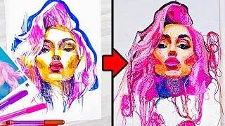 ARTIST CREATES AMAZING CROCHET PORTRAITS 💜