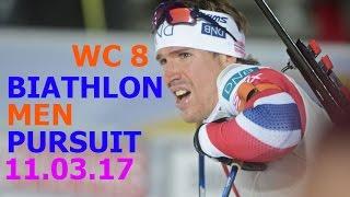 BIATHLON MEN PURSUIT 11.03.2017 World Cup 8 Kontiolahti (Finland)