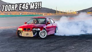 DRIFTING THE TURBO BMW E46 M3!!! INSANE TRACK DAY!