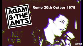 Adam and the Ants - Cleopatra - Live in Rome 1978