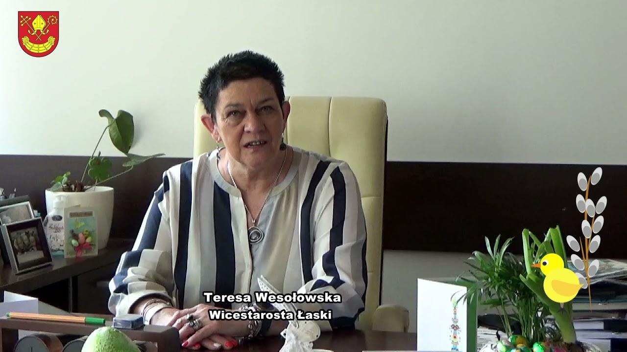 Życzenia Wicestarosty Teresy Wesołowskiej