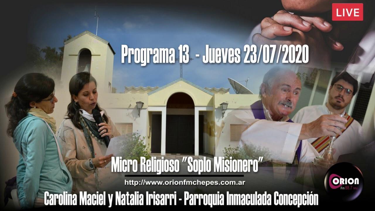 """Micro Religioso """"Soplo Misionero"""" - Programa N°13 (23/07/2020)."""