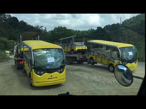 Bàn giao xe điện chở khách kiểu bus cho khách hàng