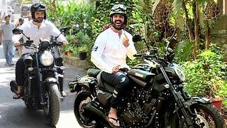 John Abraham Riding Sports Bike In Mumbai To Vote For BMC Elections 2017