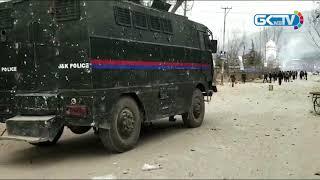 Spontaneous shutdown, intense clashes in Awantipora over teacher's custodial death