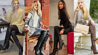 Fantastic Collection Of Leather Thigh High Boots Designs/leather Long Boots Designs For Women #2020