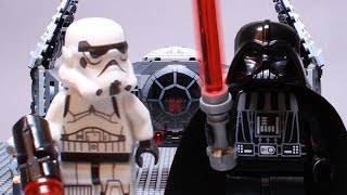 LEGO Star Wars STOP MOTION w/ Darth Vader Spaceship Fail | Star Wars Lego Set | By LEGO Worlds