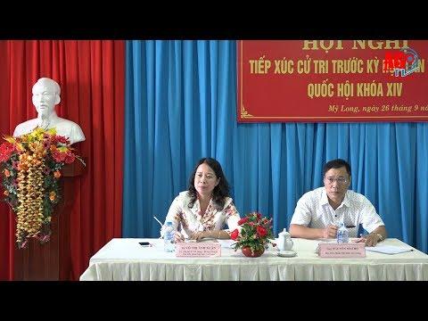 Đoàn đại biểu Quốc hội tỉnh tiếp xúc cử tri phường Mỹ Long