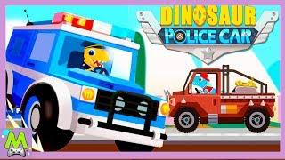 Дино Полиция.Погоня с Динозавриками на Машинах и Катерах.Игра как Мультик