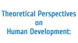 Human Developmental Theories: The Basic Psychology Theory, Principles, Perspectives