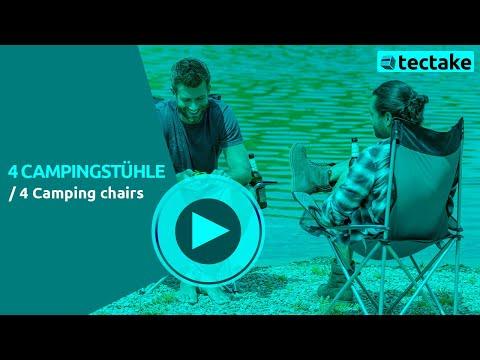 Campingstuhl, Strandstuhl Set | TecTake