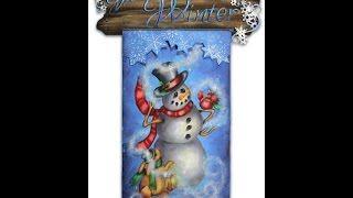 Welcome Winter Tole And Decorative Painting By Patricia Rawlinson
