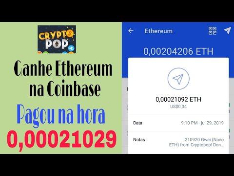CryptoPop: Ganhe Ethereum na Coinbase Jogando + Prova de Pagamento.